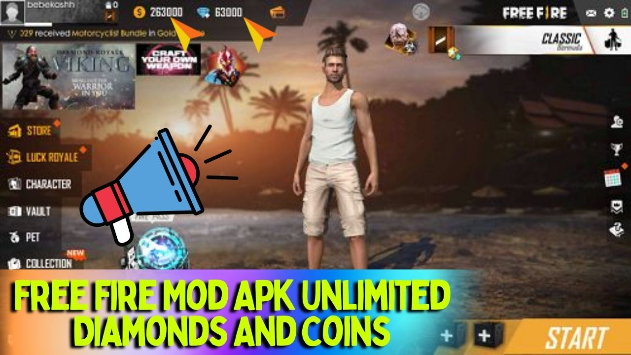 Free Fire Mod Apk Unlimited Diamonds And Coins